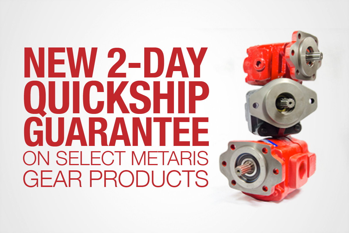 New 2-day Quickship Guarantee on Gear Pumps